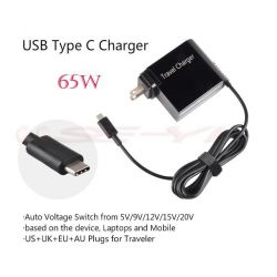 Adaptor Universal Automatic 65W 20V 3.25A USB Type-C For Macbook HP Asus Acer IBM Lenovo